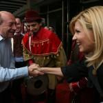 "Traian Basescu: ""In toata perioada asta de cand ii e foarte greu sa stiti ca sunt unul care vorbeste cu ea in fiecare zi, ma duc la ea in arest, am fost la ea acasa, in arestul la domiciliu, am nimerit cand erau avocatii, asta e…"""